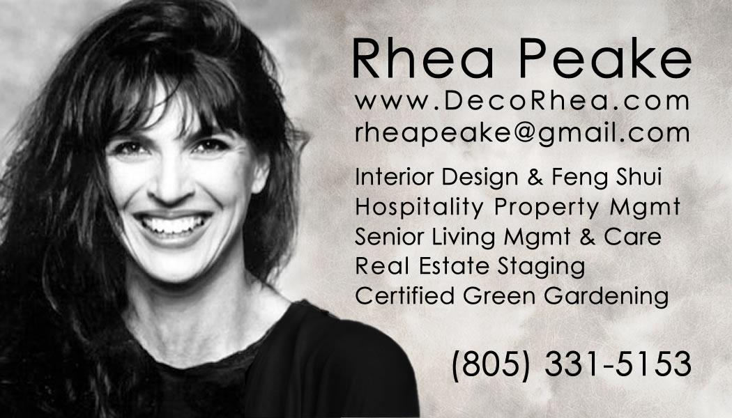Rhea Peake Business Card 805-331-5153